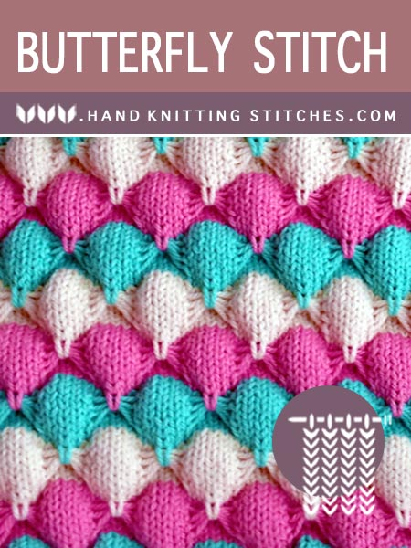 Free stitch pattern - Butterfly Slip Stitch Pattern