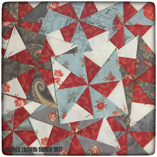 thistle thicket studio, double pinwheel blocks, sewing, quilting