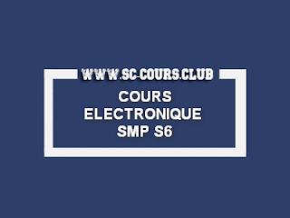 COURS ELECTRONIQUE NUMERIQUE SMP S6 PDF