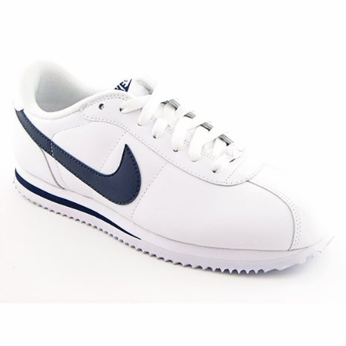 1f8c812597bf45 Nike Cortez Basic Leather Retro White Sneakers Shoes
