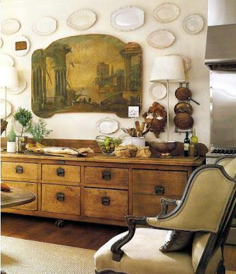white-ironstone-platters-display-wall-2