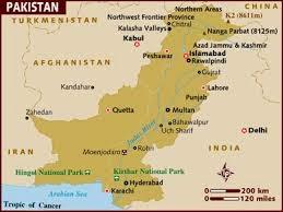 Peta Negara Pakistan