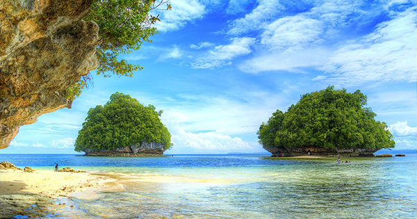 Surigao Del Sur islands in Mindanao, Philippines