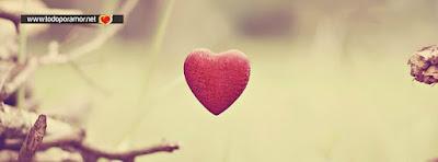 Portadas de amor con corazones para Facebook