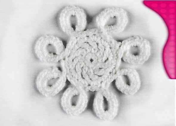 Alfombra tejida con hexagonos a trapillo o con grannys flor