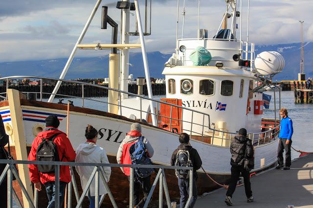 Barco en el que fuimos a ver ballenas