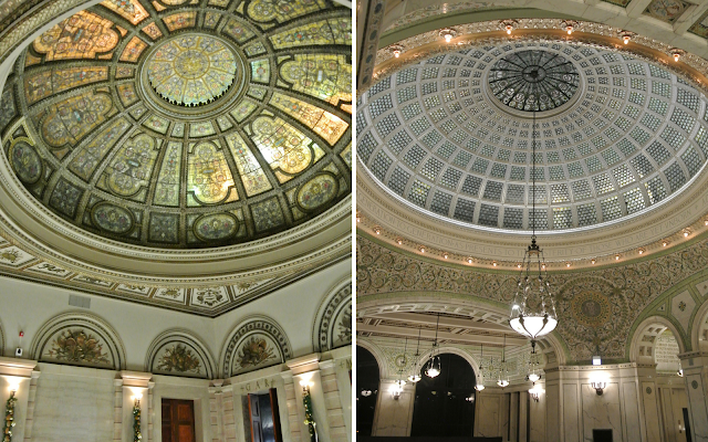 chicago cultural center dome grand army of the republic rotunda preston bradley hall tiffany stained glass