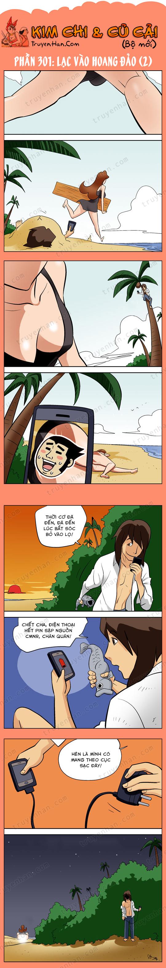 Kim Chi & Củ Cải (bộ mới) phần 301: Lạc vào hoang đảo (2)