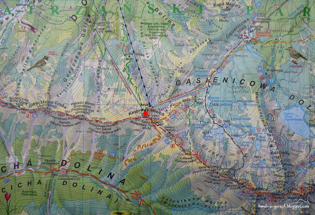 Kasprowy Wierch na mapie