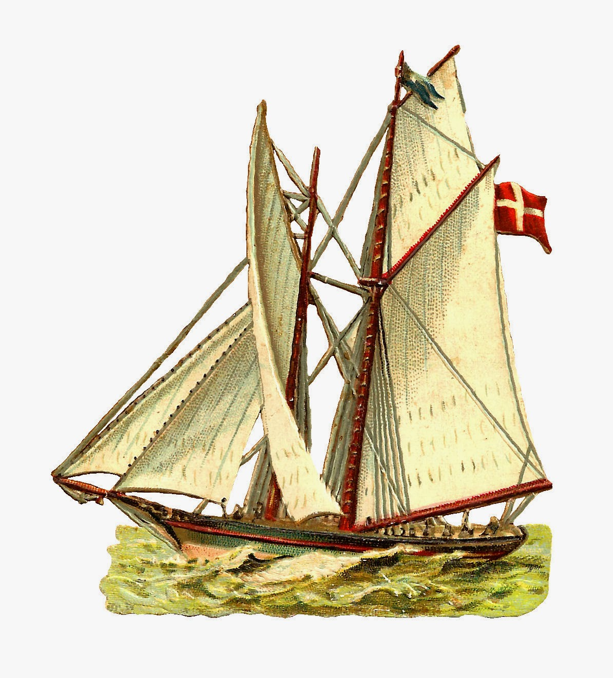 Antique Images Free Ship Graphic Antique Clip Art Of Sailing Ship With Denmark Flag