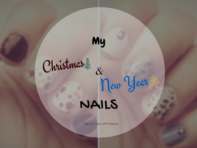 nail art christmas and new year