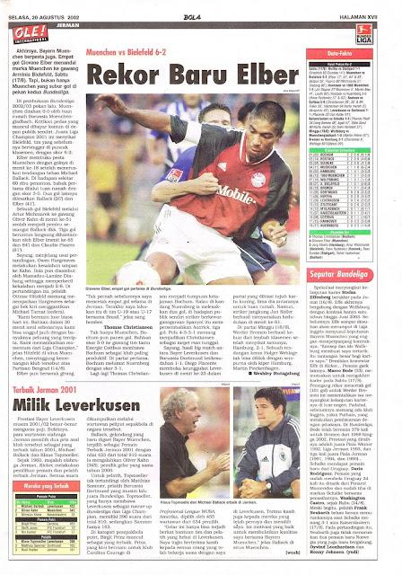 MUENCHEN VS BIELEFELD 6-2 REKOR BARU ELBER