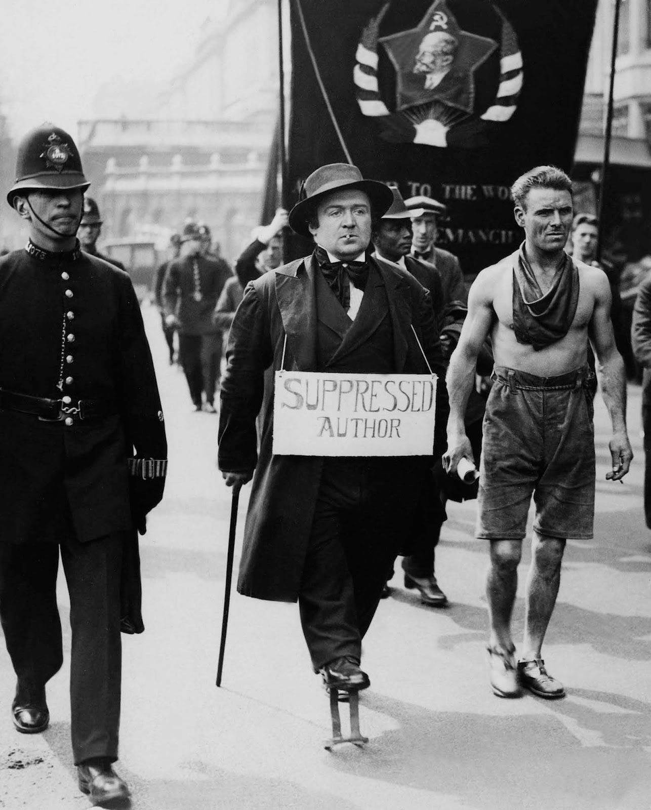 A Communist demonstration in England. 1928.