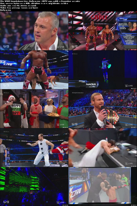 WWE Smackdown Live HDTV 480p 350MB 19 December 2017
