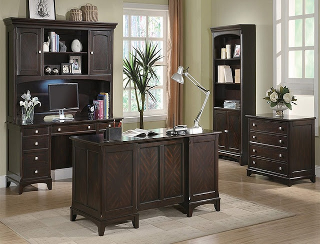 best buy dark wood home office furniture sets Australia for sale