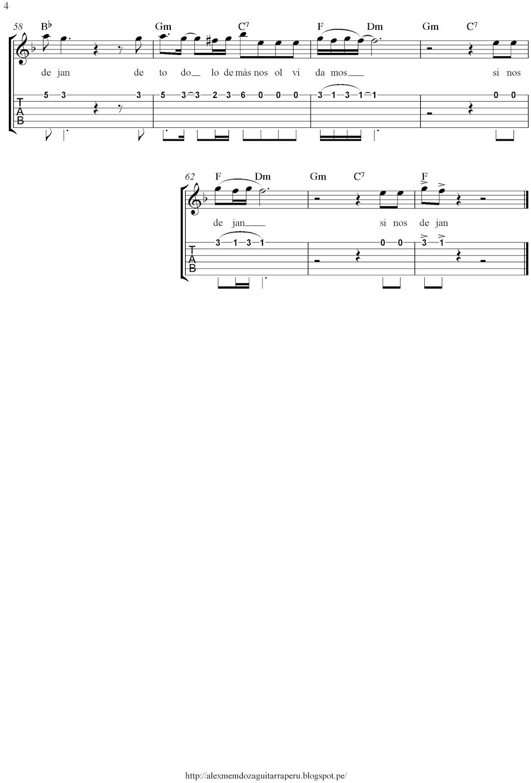 Alex Mendoza Amen Partituras Letras Tab Acordes Para Guitarra