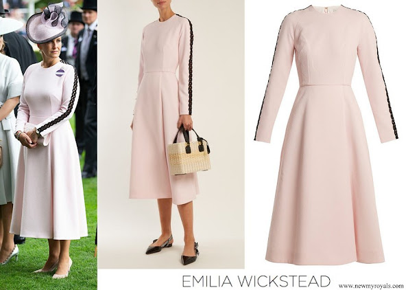 Countess of Wessex wore Emilia Wickstead Dionne macramé-trimmed crepe dress