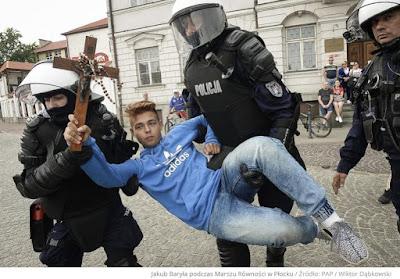 Jakub Baryła under arrest