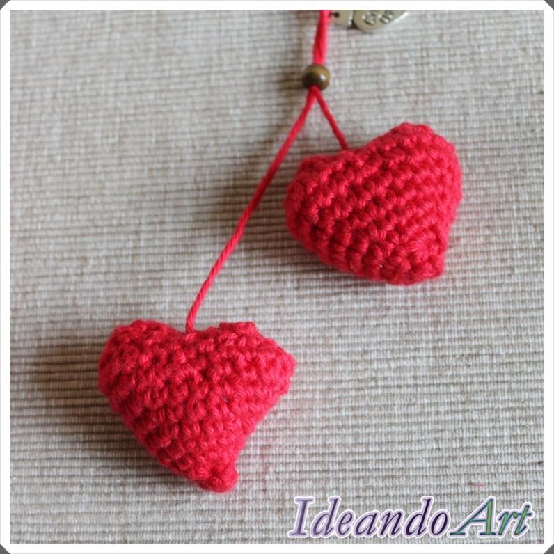 Corazones amigurumi de crochet