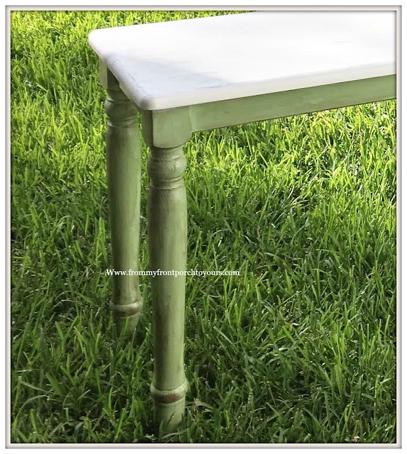 Ikea Table Makeover-Patio-Table-Green-DIY-From My Front Porch To Yours