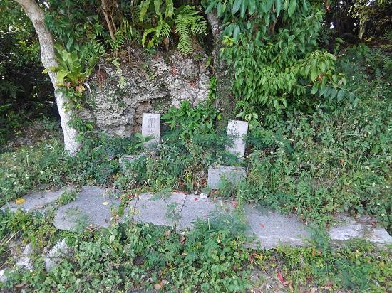 クワギブク嶽(金満の杜)の拝所の写真