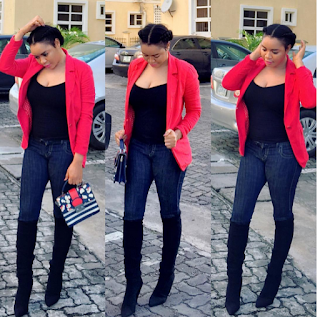 Zenishia Abdulmalik Flaunts Black Undies In See-Through Outfit