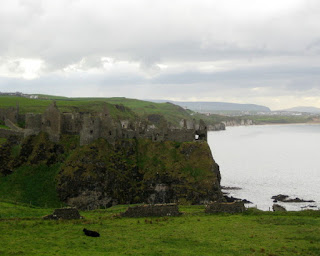 Remains of Dunluce Castle near Portballintrae, Northern Ireland