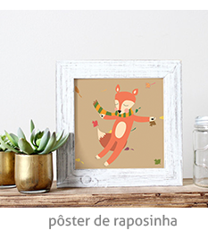poster de raposinha | espanta-papão