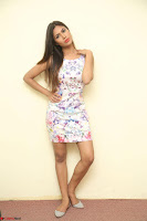 Nishi Ganda stunning cute in Flower Print short dress at Tick Tack Movie Press Meet March 2017 176.JPG