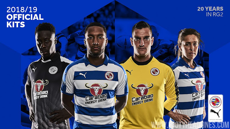 Championship team Reading just revealed its new 2018-2019 home and away kits 02f313e10