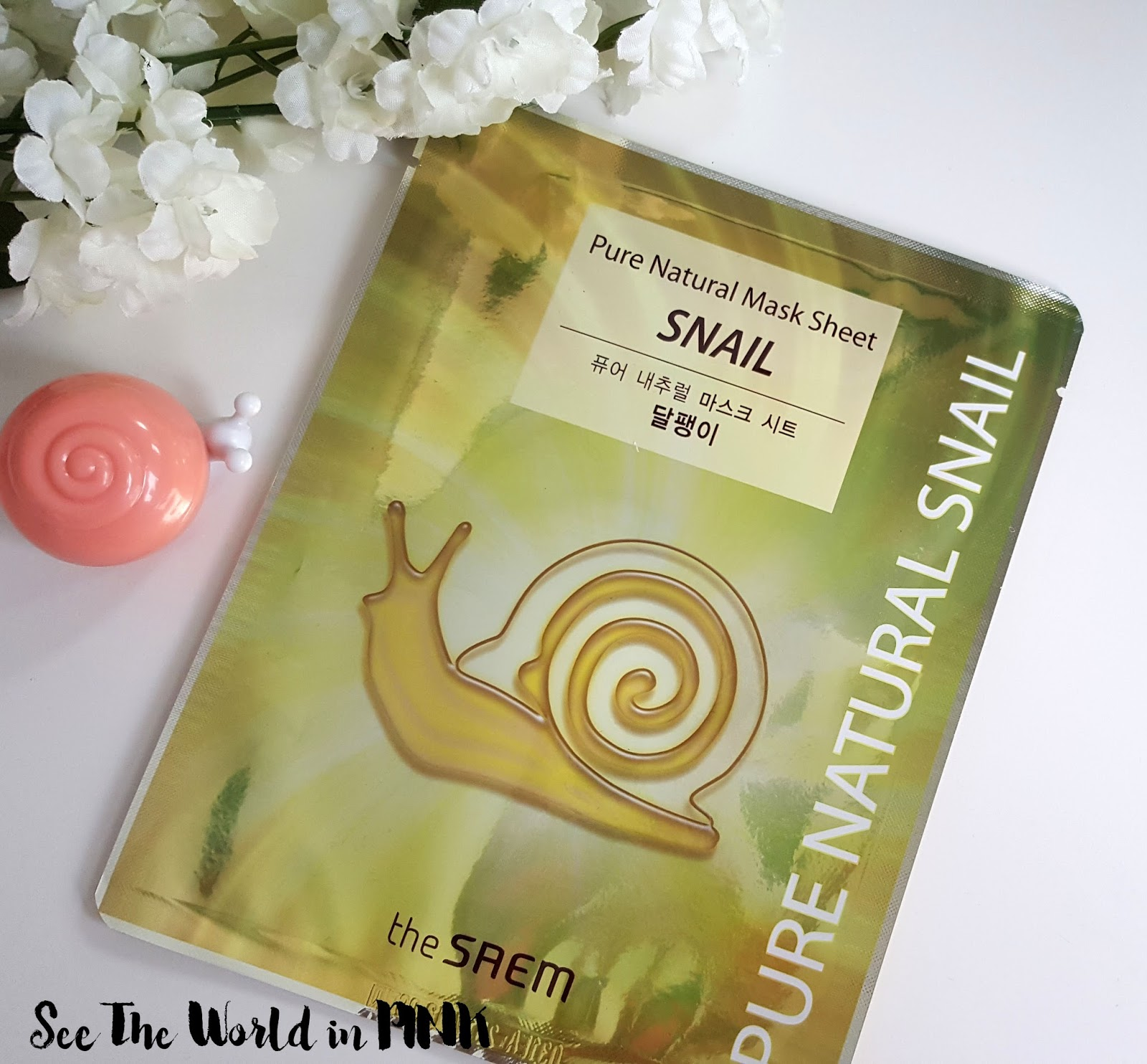 SNAIL Skincare Sunday - The Saem Pure Natural Mask Sheet Review