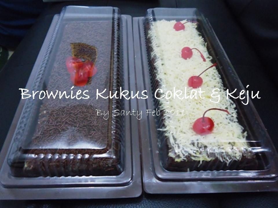 Resep Cake Kukus Keju Ncc: Santy's Kitchen: Brownies Kukus Toping Coklat Meises & Keju