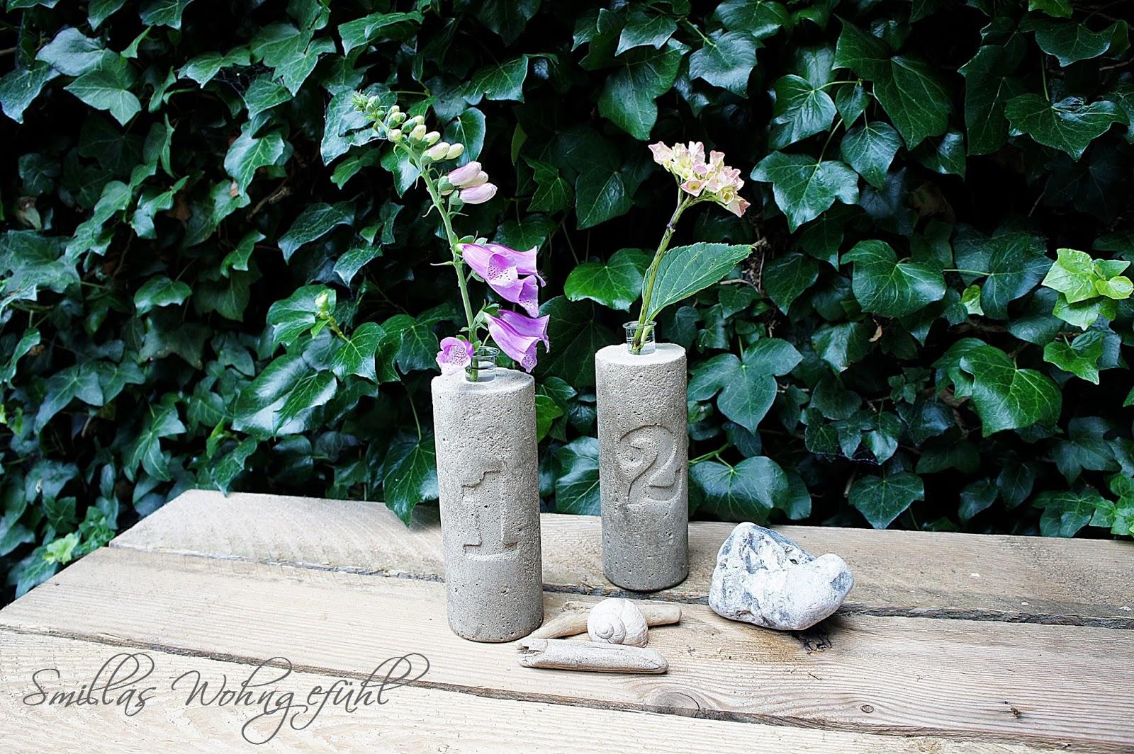 1d3eafa71ba93d DIY] Beton-Vasen...schlicht und schön - Smillas Wohngefühl