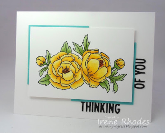 Thinking of you by Irene features Peony Blooms by Newton's Nook Designs; #newtonsnook