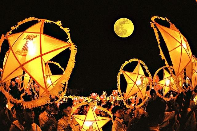 Cảm âm sáo trúc em đi xem hội trăng rằm