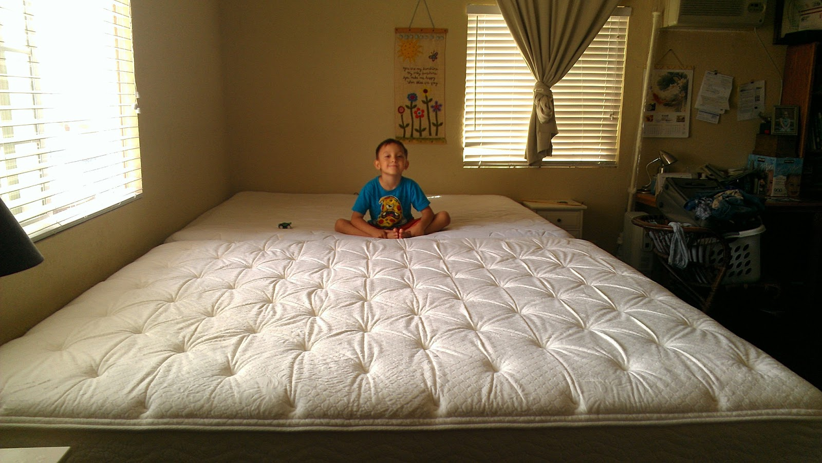 Our Huge New Family Bed