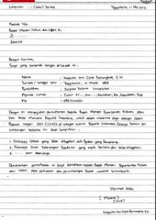 Contoh Format Surat Lamaran Kerja Yang Benar