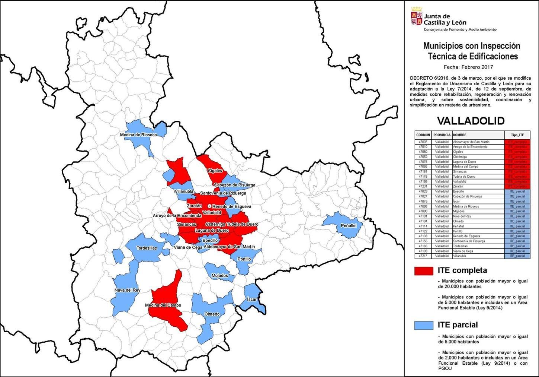 ite municipios provincia valladolid