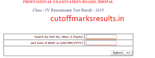 MP Vyapam Peon/ Watchman Result 2015