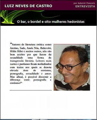 Hedonismo, Luiz Neves de Castro, Literatura Erótica