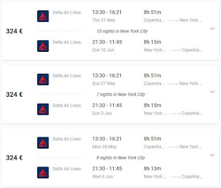 Flight deals Copenhagen New York Delta Air Lines