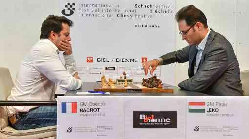 Ronde 6, le Français Etienne Bacrot annule contre le Hongrois Peter Leko - Photo © site officiel