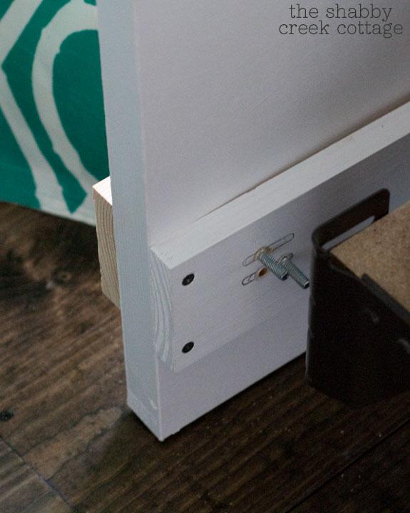 DIY headboard from a door