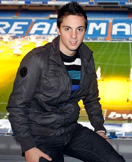 Pablo Sarabia at the Bernabeu Stadium