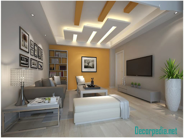pop design, pop false ceiling design ideas for living room and hall 2019, plaster of paris ceiling with backlights