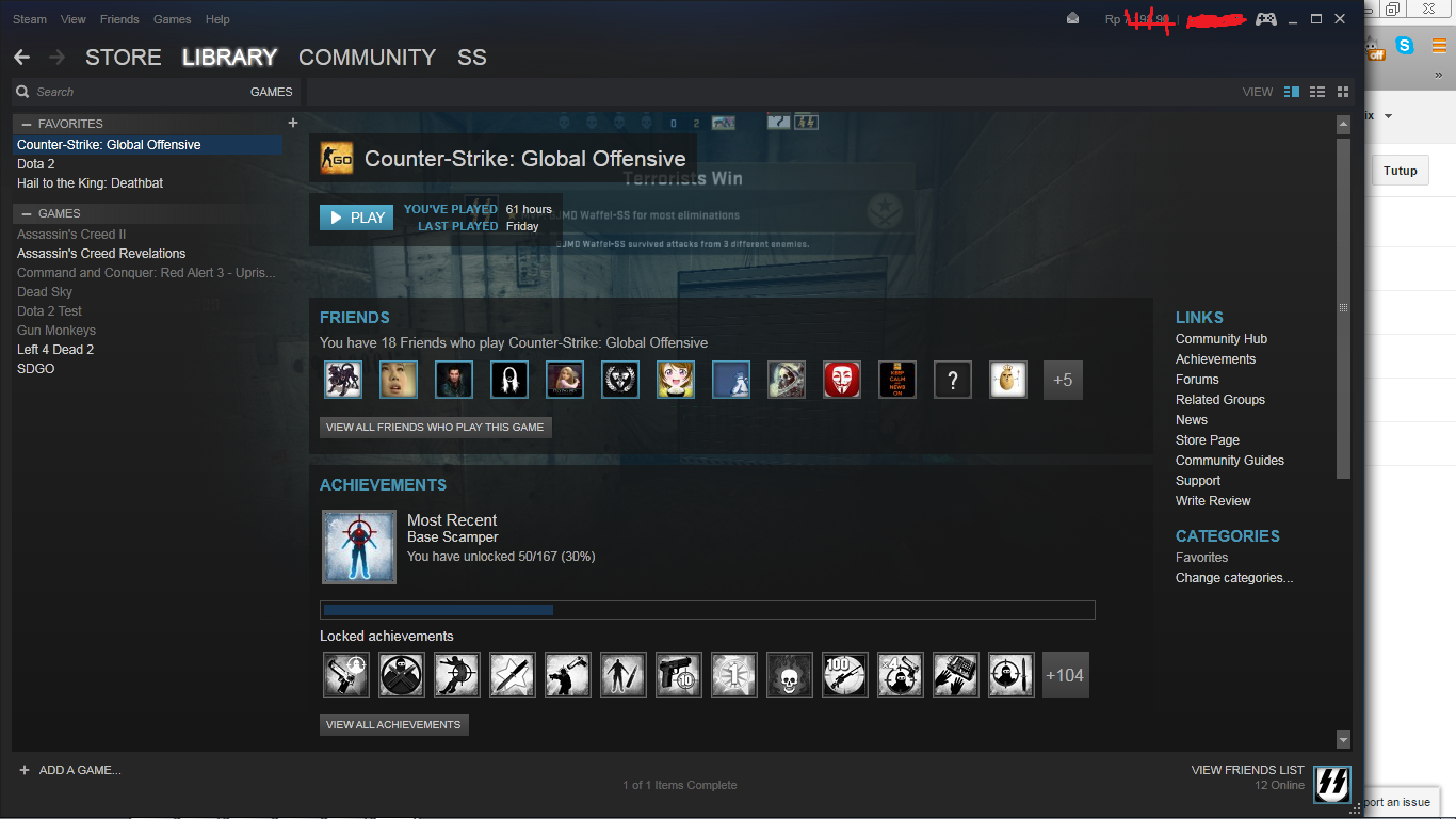 Game CS GO di Steam