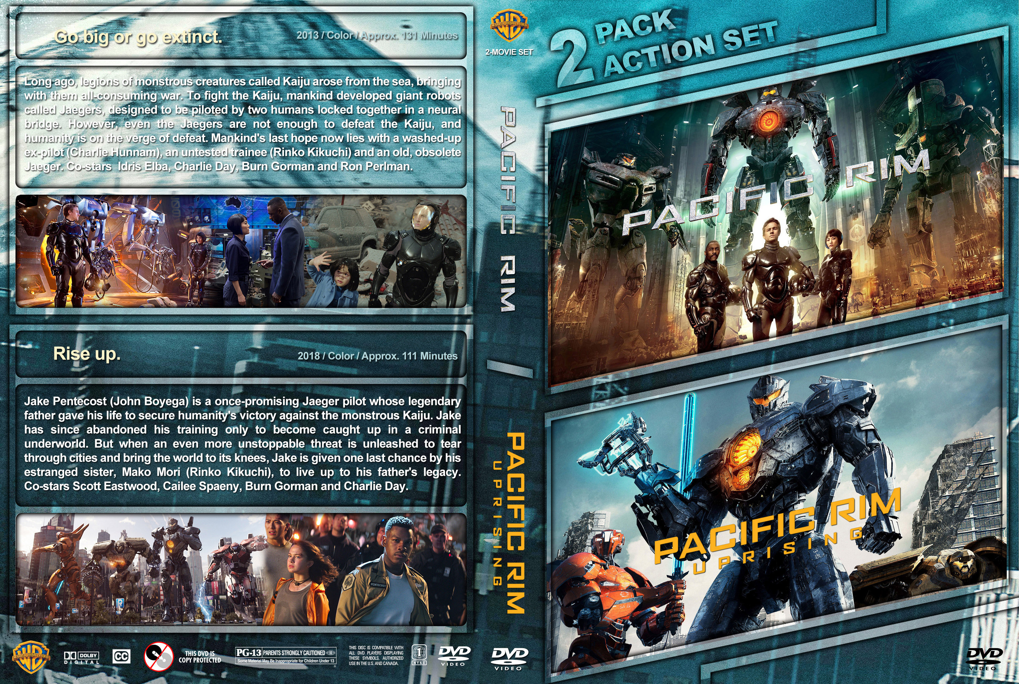 Pacific Rim Double Feature DVD Cover | Cover Addict - Free ... Pacific Rim Dvd Cover