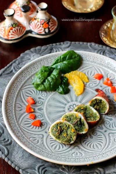 calamari seppie ripieni spinaci arancia ricetta