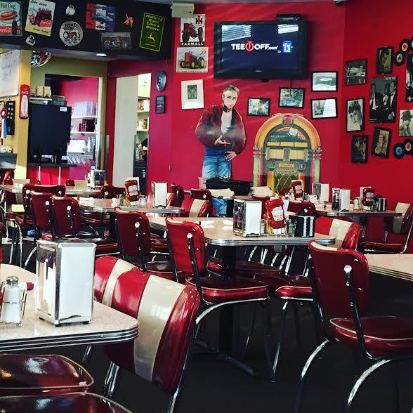 Nostalgic diner feel at Bristol 45 Diner in Bristol, Wisconsin