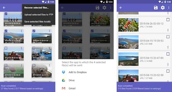 تطبيق استعادة صور هاتف الأندرويد DiskDigger